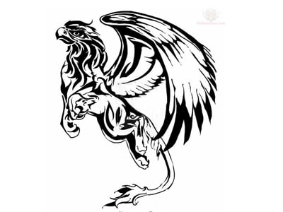 symbole celte griffon tatouage