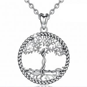 femme celtique en argent, collier sterling