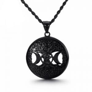 Collier Triple Lune Noir
